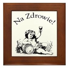 Polish Toast Wine Framed Tile
