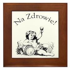 Polish Toast Wine Framed Tile