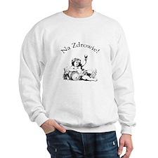 Polish Toast Wine Sweatshirt