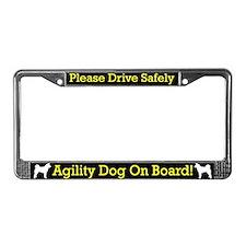 Akita Agility Dog License Plate Frame