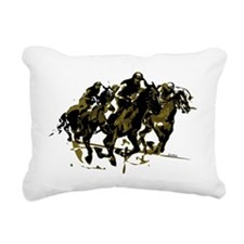 Horse racing Rectangular Canvas Pillow