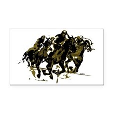 Horse racing Rectangle Car Magnet