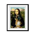 Mona & Boxer Framed Panel Print