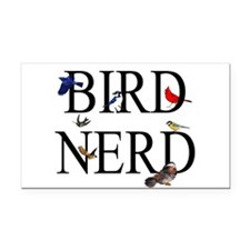 Bird Nerd Rectangle Car Magnet