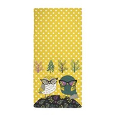 Trendy Owls Beach Towel