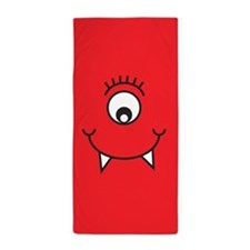 Silly Monster Face Beach Towel