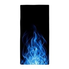 Blue Flames Beach Towel