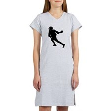 Lacrosse Player Silhouette Women's Nightshirt