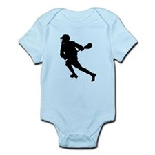 Lacrosse Player Silhouette Body Suit