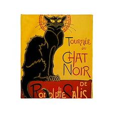 Chat Noir Vintage Throw Blanket