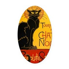 Le Chat Noir Oval Car Magnet