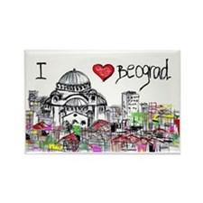 I love Beograd Rectangle Magnet