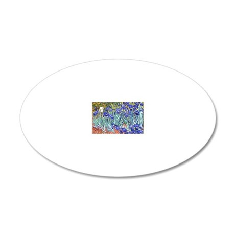 Van Gogh Irises 20x12 Oval Wall Decal
