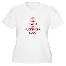 Keep calm by hugging a Slug Plus Size T-Shirt