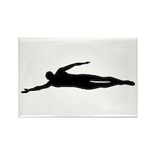 Swimming swimmer Rectangle Magnet (10 pack)