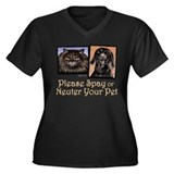 Spay/Neuter Pet Women's Plus Size V-Neck Dark T-Sh