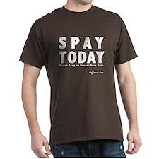 B&W Spay Spay & Neuter T-Shirt