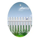 The Garden Fence Ornament (Oval)