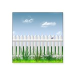 The Garden Fence Square Sticker 3