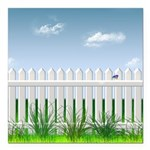 The Garden Fence Square Car Magnet 3