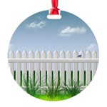 The Garden Fence Round Ornament