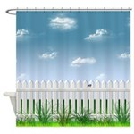 The Garden Fence Shower Curtain