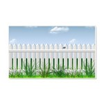 The Garden Fence 20x12 Wall Decal