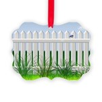 The Garden Fence Picture Ornament