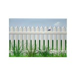 The Garden Fence Rectangle Magnet