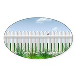 The Garden Fence Sticker (Oval 50 pk)