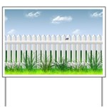 The Garden Fence Yard Sign