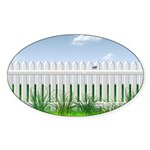 The Garden Fence Sticker (Oval)