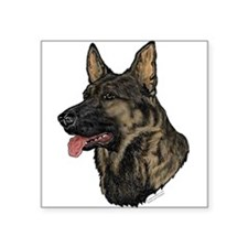 Sable German Shepherd face Oval Sticker