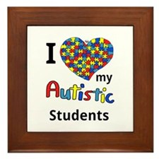 Autistic Students Framed Tile