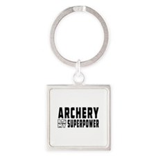 Archery Is My Superpower Square Keychain