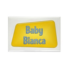 Baby Bianca Rectangle Magnet