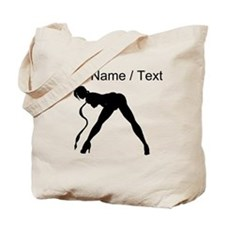 Custom Exotic Dancer Silhouette Tote Bag