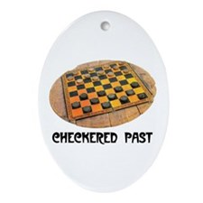 CHECKERED PAST Oval Ornament