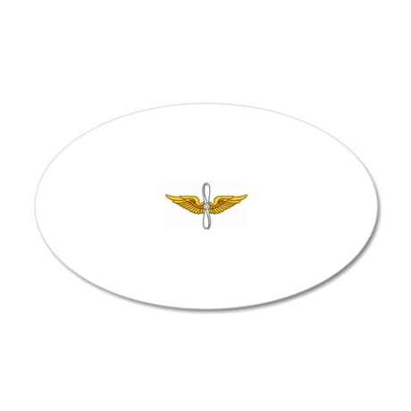 Prop and Wings 20x12 Oval Wall Decal