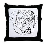 Bordeaux head design 1 Throw Pillow