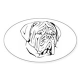Bordeaux head design 1 Oval Stickers