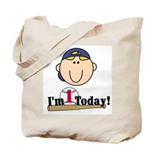 Baseball 1st Birthday(blond) Tote Bag