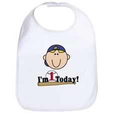 Baseball 1st Birthday(blond) Bib