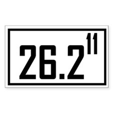 Marathon 11 Rectangle Decal