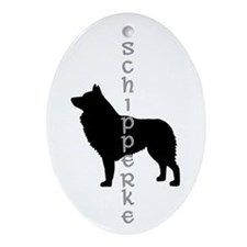 schipperke dogs Oval Ornament