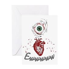 Eye Heart Ewww Greeting Card