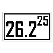 Marathon 25 Rectangle Decal