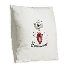 Eye Heart Ewww Burlap Throw Pillow