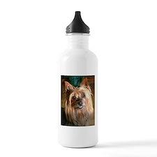 Australian Silky Terrier headstudy Water Bottle