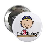 Baseball 3rd Birthday(blond) Button